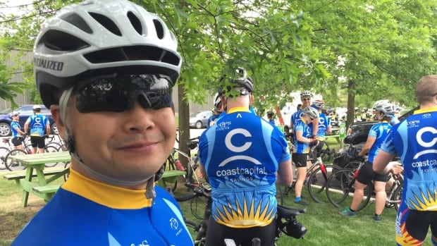 Vancouver Police Department member Clifton Louis is one of the riders taking part in this year's Cops for Cancer ride.