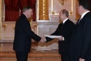 Canadian ambassador Ralph Lysyshyn meets Russian president Valdimir Putin