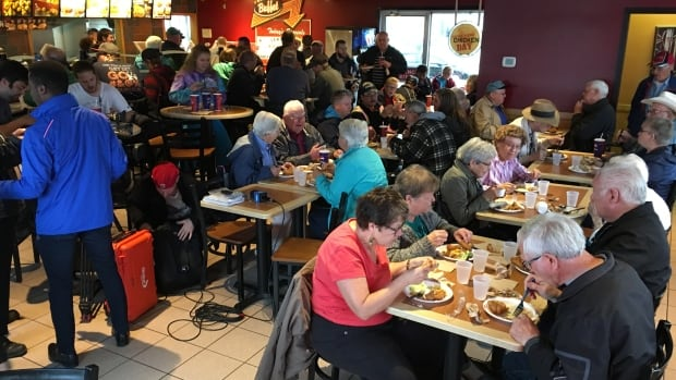 It was a packed house at the Weyburn KFC for Senior's Discount Day on Wednesday, May 25.