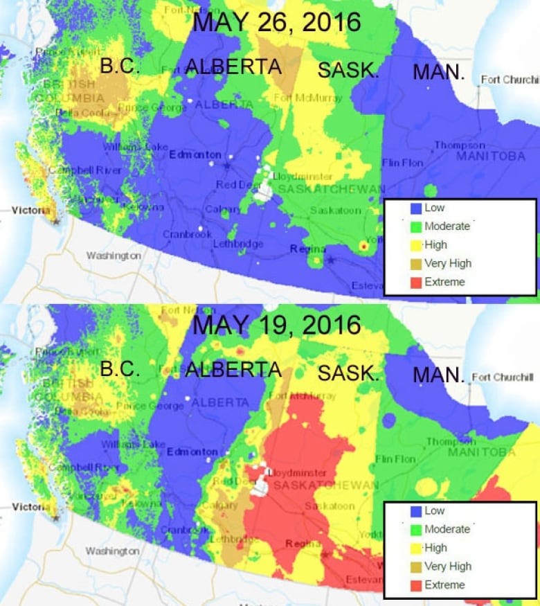 Rain Cools Off Saskatchewan S Fire Danger Zones Cbc News