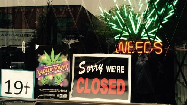 A marijuana dispensary is closed after Toronto police raid pot shops in the city. Across Canada, communities have taken differing approaches to the proliferation of commercial marijuana storefronts.
