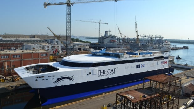 Even down to three engines, the ferry will still be able to complete the majority of its scheduled sailings.