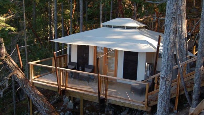 'Glamping' in B.C. reaches new heights with comforts like spa tents