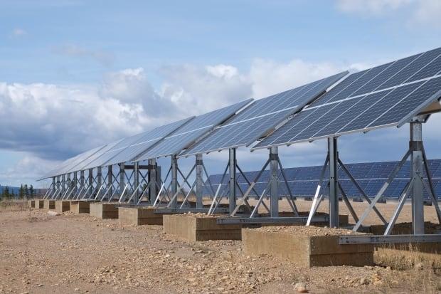 Solar array in Colville Lake