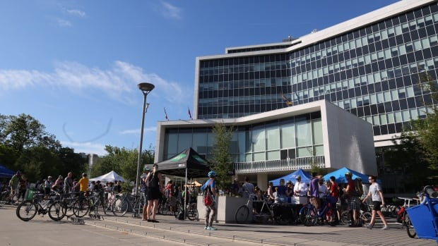 Hamilton's Bike to Work Day festivities for 2016 took place at city hall.