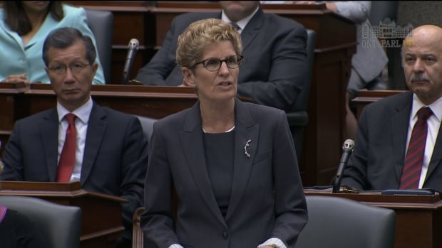 Ontario Premier Kathleen Wynne apologizes for the 'abuses of the past' in her official response to the Truth and Reconciliation Commission report.