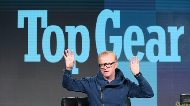 Top Gear host Chris Evans speaks onstage during a Top Gear panel in Pasadena, Calif., in January. His revamped version of the hit BBC motoring series debuted Sunday.