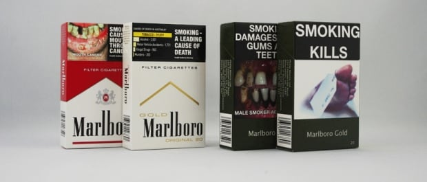 Australian plain cigarette packs