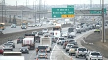 Calgary morning traffic