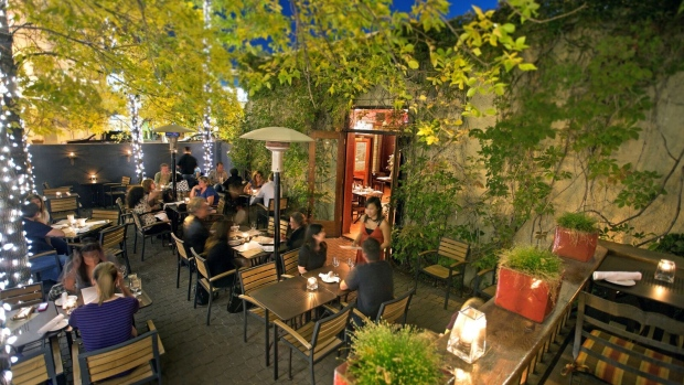 Cilantro was on the Open Table list as one of top outdoor patios in Calgary.