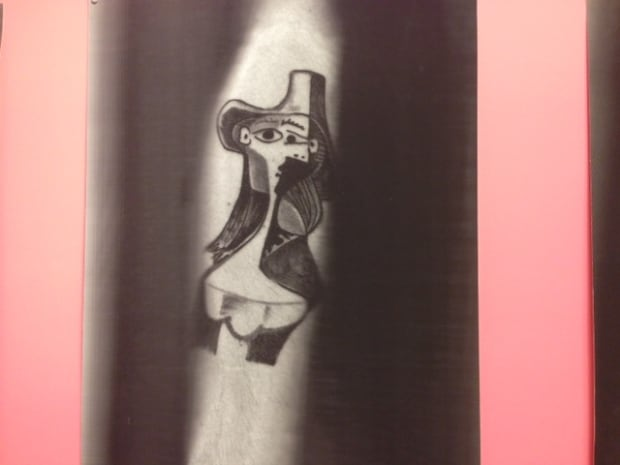 Photo of tattoo of work by Picasso on Lefèvre's arm