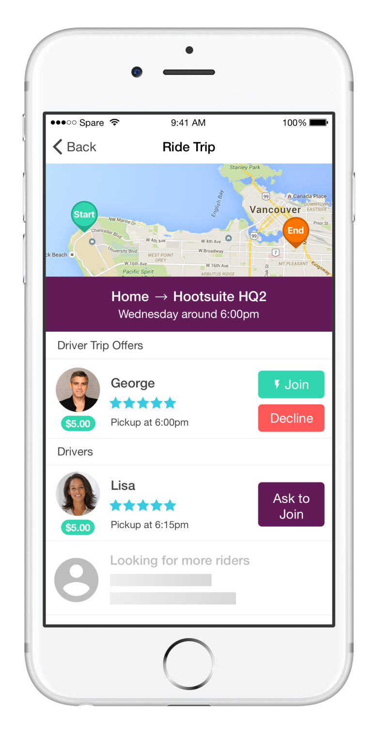 Carpooling Spare Rides app expands to serve all of Metro Vancouver