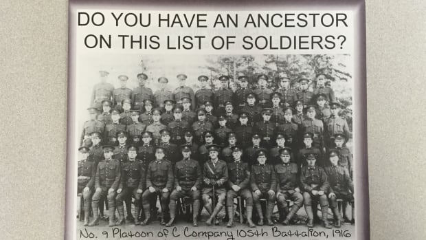 The MacNaught History Centre in Summerside distributed this flyer last year, seeking more information on soldiers who trained in Summerside during the First World War.