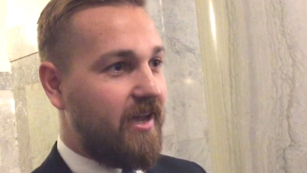 Wildrose MLA Derek Fildebrandt made his first appearance in the Alberta legislature since he was reinstated to the caucus on Tuesday.