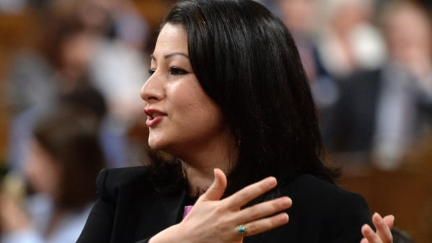 Minister of Democratic Institutions Maryam Monsef responds to a question during in the House of Commons on Parliament Hill in Ottawa on Thursday.