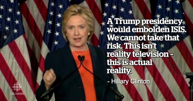 Hillary Clinton Trump speech