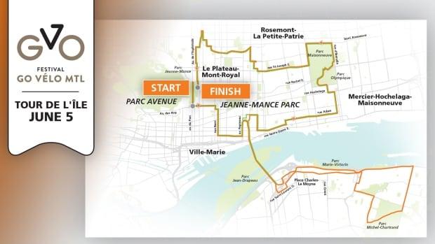 The Tour de l'Île event begins Sunday morning.