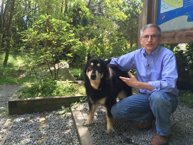 Hunter Madsen and his dog Port Moody