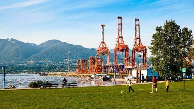 Crab Park — a popular space on Vancouver's Downtown Eastside — is next to the busy Centrem shipping container terminal.