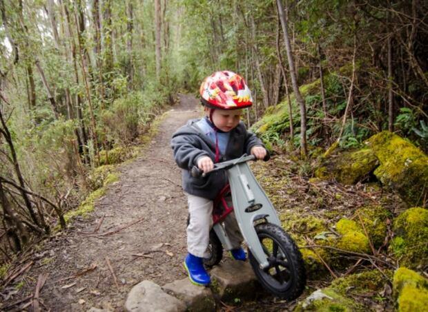 Boy on bike in Bert Flinn Park