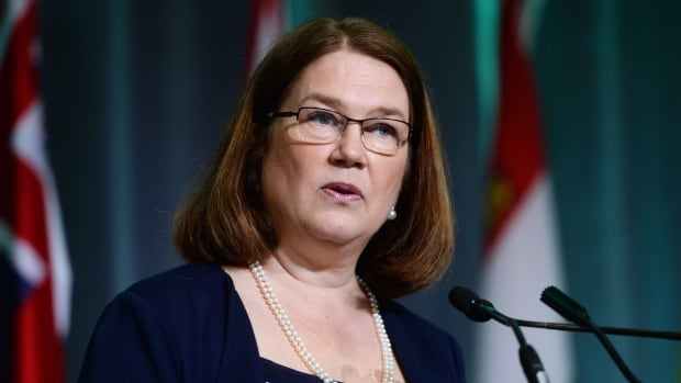 Health Minister Jane Philpott speaks in Ottawa on June 6. Philpott ordered the emergency summit meeting, held yesterday, to resolve peer-review funding problems.