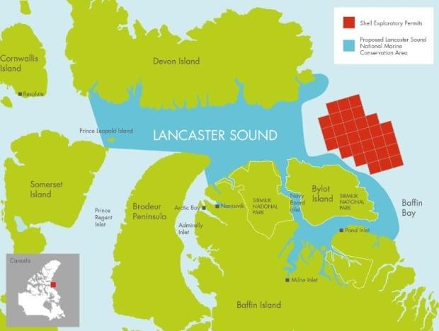 Lancaster Sound map