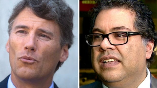 Vancouver Mayor Gregor Robertson (left) has written an open letter to Justin Trudeau, saying he and First Nations in Vancouver 'strongly oppose' the approval of the Trans Mountain Pipeline Expansion Project.