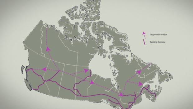 A new report on the 'northern corridor' says it would be approximately 7,000 kilometres in length and up to five kilometres wide.