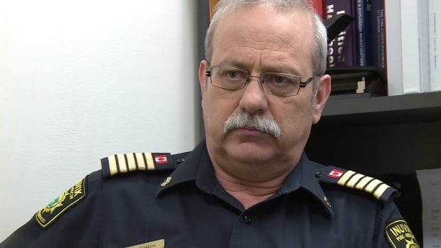 Jim Sawkins, Inuvik's fire chief, in a file photo from 2016.