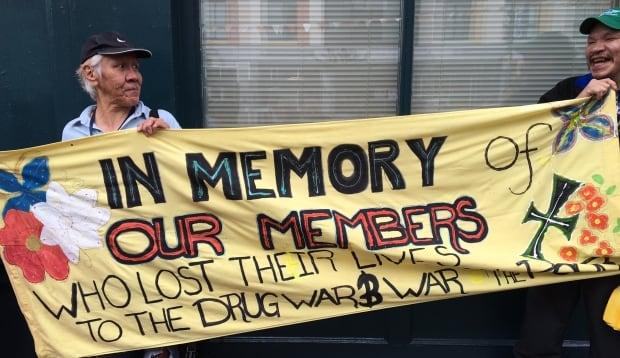 Drug user rally