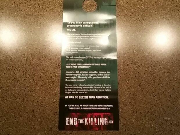 Anti-abortion flyer