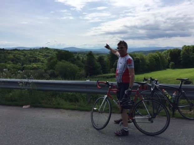Steve Fischer cycling in Vermont