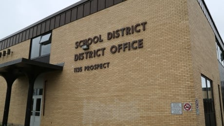 Anglophone School District West building sign 2