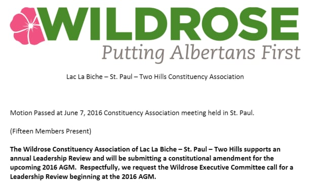 Wildrose motion Brian Jean review
