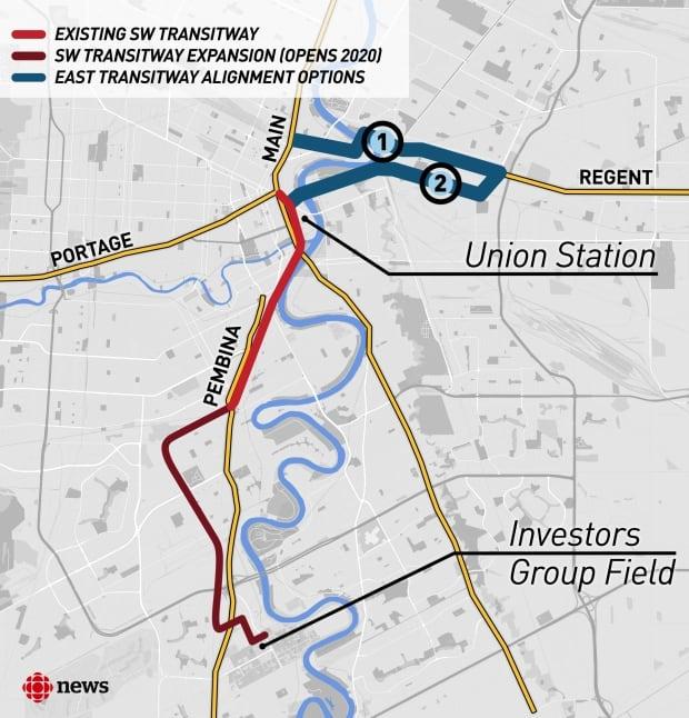 Transit corridor map