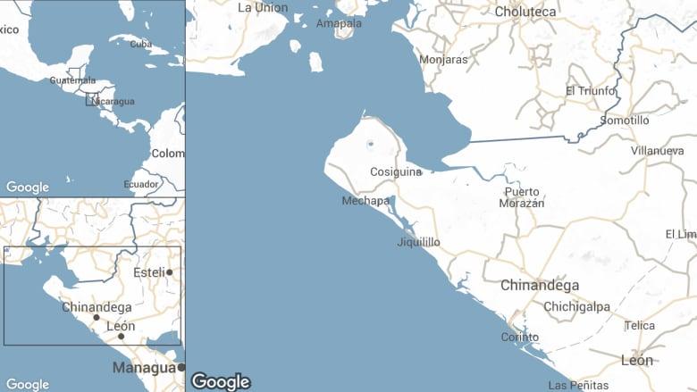 Nicaragua hit by 6.1 magnitude earthquake | CBC News on north country of nicaragua, welcome to nicaragua, hotels in chinandega nicaragua, highway map nicaragua, a current map nicaragua, fotos de nicaragua, map of limon, limon nicaragua, rancheria chinandega nicaragua, chichigalpa nicaragua, map of poneloya and las penitas, villanueva nicaragua,