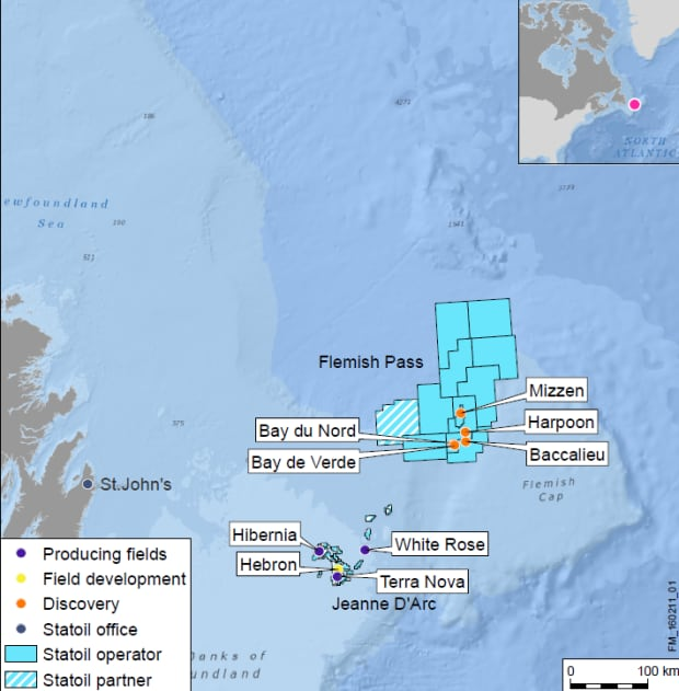 Statoil offshore Canada Newfoundland map