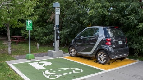 Electric car chargers spread across Alberta in light of new incentives to ditch fossil fuels