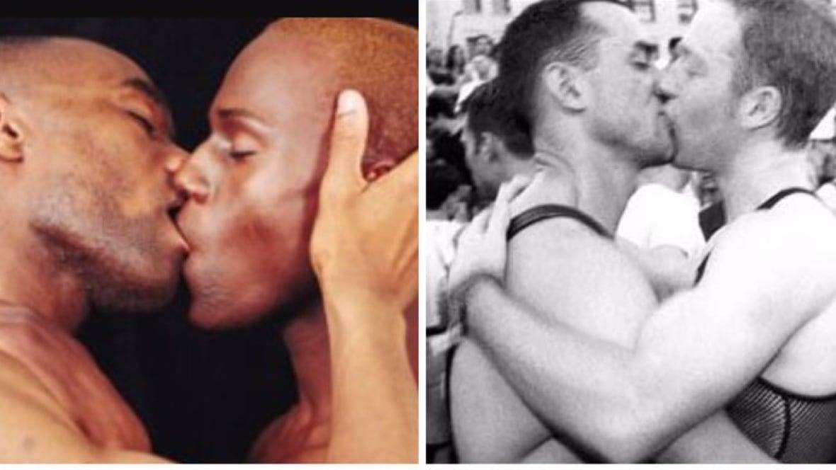 Two Men Kissing 87