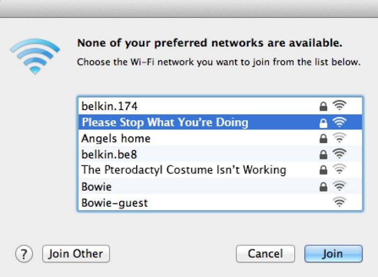 Passive aggressive man renames WiFi network to things