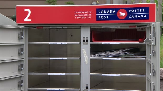 This Canada Post mailbox in Armdale was first discovered left open on Friday.