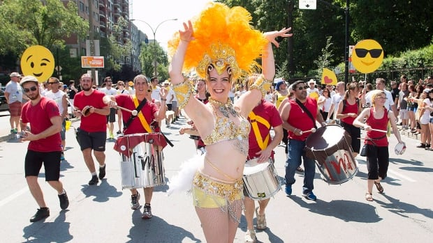 A dancer entertains the crowd during the annual Pride Parade in Montreal. Pride Montreal said it tripled its security budget to deal with high-profile attendees, and to address fears in light of several high-profile car-ramming attacks.