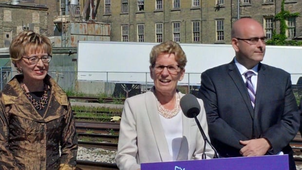 Premier Kathleen Wynne announces expanded GO service between Waterloo region and Toronto.