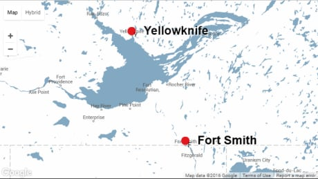 Fort Smith Yellowknife map