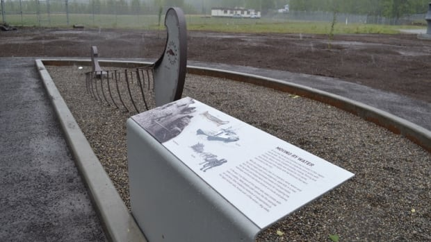 One of the new displays at the W.A.C. Bennett Dam visitor centre in Hudson's Hope. The updated exhibit now features displays that tell the story of how First Nations communities were negatively impacted by the dam's construction in the 1960s.