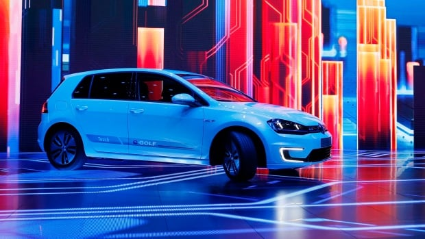 Volkswagen unveiled the e-Golf Touch electric car at CES International in Las Vegas, Nev., in January 2016. CEO Matthias Mueller said Thursday the company plans to introduce more than 30 electric-powered vehicles by 2025.