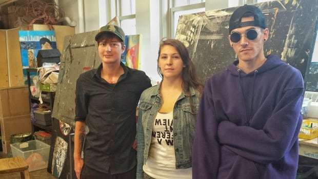 """Three of the 10 artists with the """"Moving Home"""" project share their pieces with the CBC."""