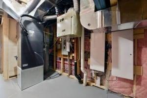 Mechanical room Minto house net zero pump basement energy ottawa