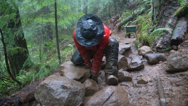 The exhibit Evidence of Trail Fairies, documents the efforts of two volunteer trail builders on Vancouver's North Shore.