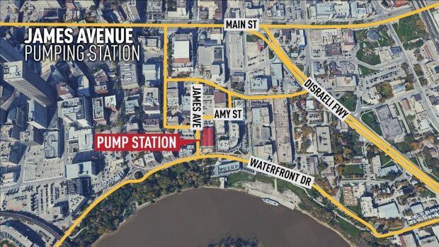 James Avenue location map
